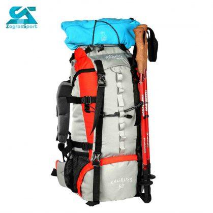 کوله پشتی کوهنوردی zs52 رنگ نقره ای