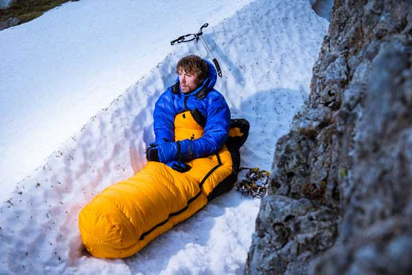 کیسه خواب در تجهیزات کوهنوردی