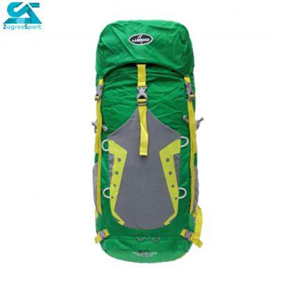 کوله پشتی کوهنوردی نیکو ظرفیت 45-55 لیتری رنگ سبز