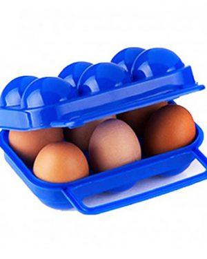 رنگ آبی جا تخم مرغی 6 عددی