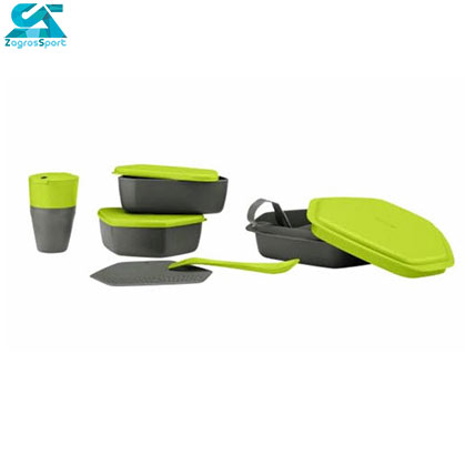 رنگ سبز ست ظرف 8 تیکه کريويت Camping Dining Set
