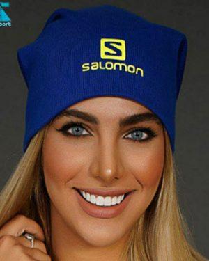 کلاه بافت SALOMON رنگ آبی