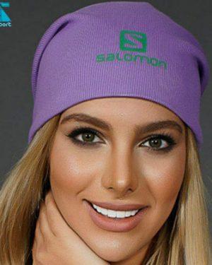 کلاه بافت SALOMON رنگ بنفش