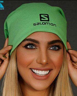 کلاه بافت SALOMON رنگ سبز