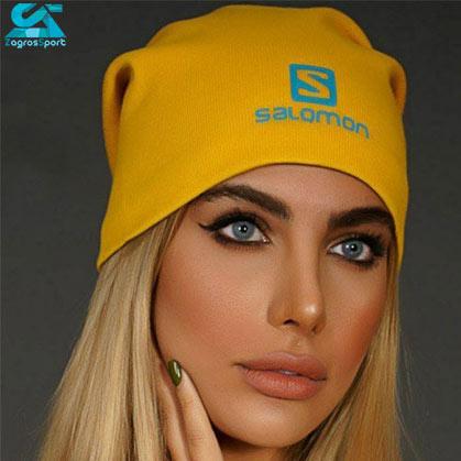 کلاه بافت SALOMON رنگ زرد