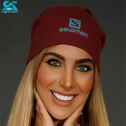 کلاه بافت SALOMON رنگ زرشکی