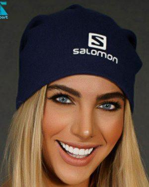 کلاه بافت SALOMON رنگ سورمه ای