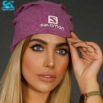 کلاه بافت SALOMON رنگ صورتی