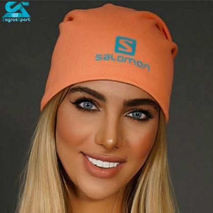کلاه بافت SALOMON رنگ نارنجی